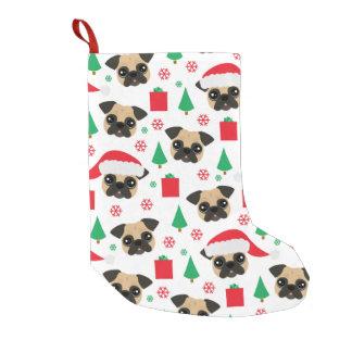 Cute Christmas Pug Small Christmas Stocking