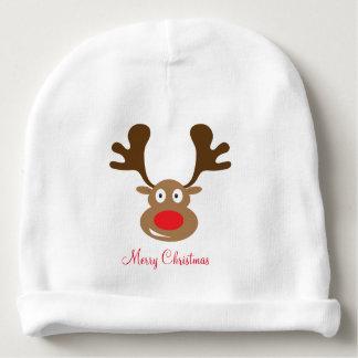 Cute Christmas Reindeer Baby Beanie