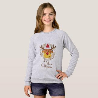 Cute Christmas Reindeer Kids T-shirt