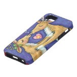 Cute Christmas Reindeer Kissing Under Mistletoe Case For The iPhone 5