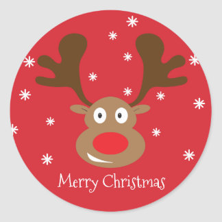 Cute Christmas Reindeer Sticker