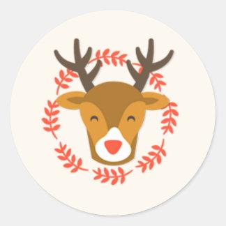 Cute Christmas Reindeer Stickers