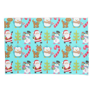 Cute Christmas Santa and Friends Pillowcase
