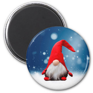 Cute Christmas Santa Snow Stars Magnet