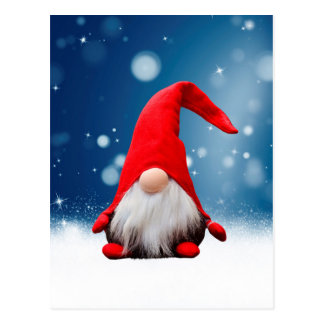 Cute Christmas Santa Snow Stars Postcard