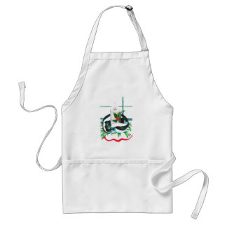 Cute Christmas Skunk Wrapped Candle Holiday Warmth Standard Apron