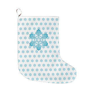 Cute Christmas Snowflake Large Christmas Stocking