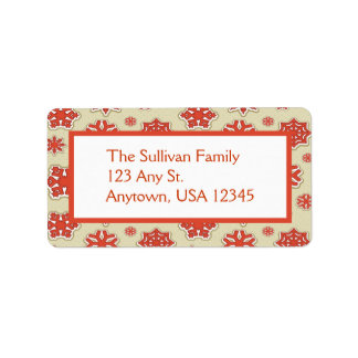 Cute Christmas Snowflakes Address Labels
