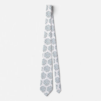 Cute Christmas Snowflakes, Winter Snow Blizzard Tie