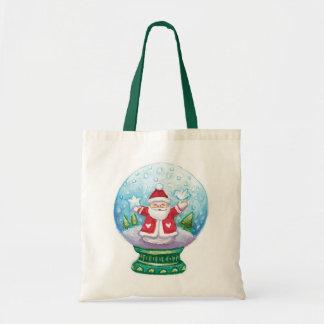 Cute Christmas Snowglobe Santa Claus, Star, Bird
