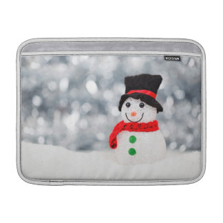 Cute Christmas Snowman Bokeh MacBook Air Sleeve