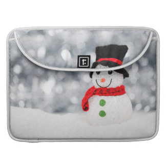 Cute Christmas Snowman Bokeh Sleeve For MacBook Pro