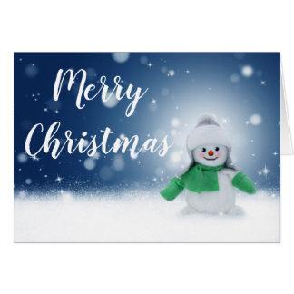Cute Christmas Snowman Card