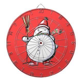 Cute Christmas Snowman Dart Boards
