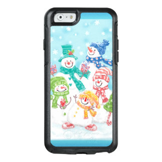 Cute Christmas Snowman Family in the Snow OtterBox iPhone 6/6s Case