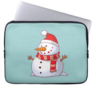 Cute Christmas Snowman Laptop Sleeves