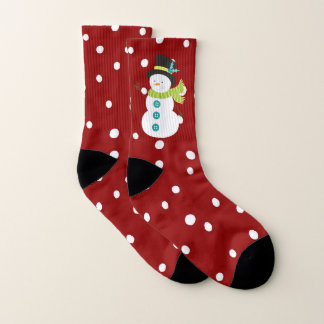 Cute Christmas Snowman Snowing Red Christmas 1