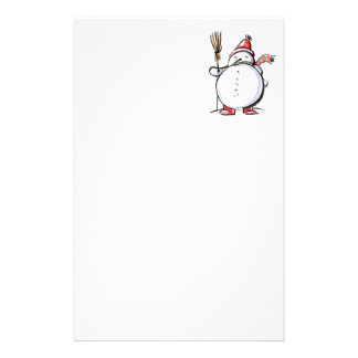Cute Christmas Snowman Stationery Paper