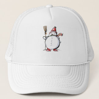 Cute Christmas Snowman Trucker Hat