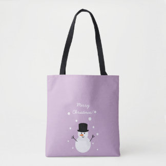 Cute Christmas Snowman Winter Festive Holiday Snow Tote Bag