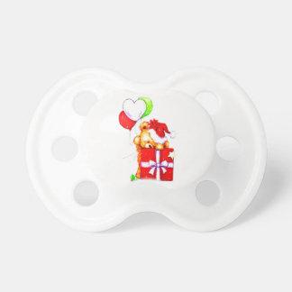 Cute Christmas teddy bear pacifier