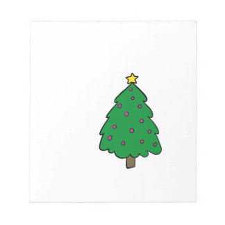 CUTE CHRISTMAS TREE NOTEPAD