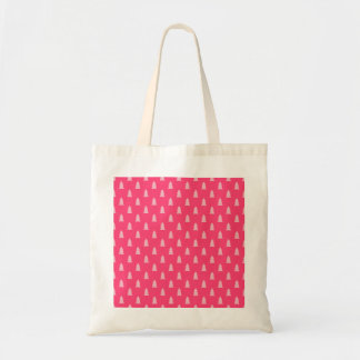 Cute Christmas tree pattern pastel and hot pink Tote Bag