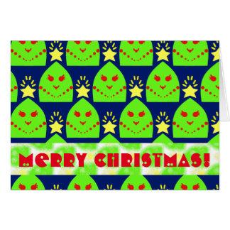 Cute Christmas Trees Greeting Card