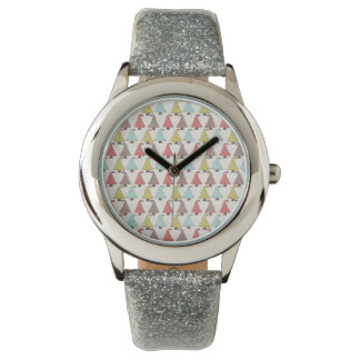 Cute Christmas Trees Pattern Wrist Watches