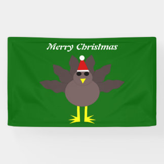 Cute Christmas Turkey Personalized Banner