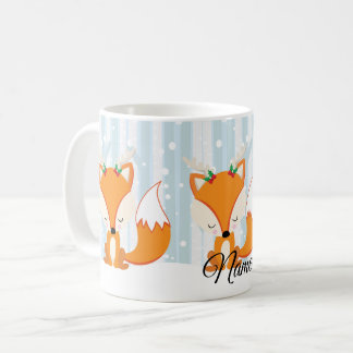 Cute Christmas Woodland Fox Coffee Mug