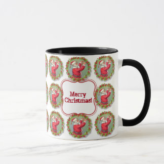Cute Christmas Wreaths and Santa Claus Mug