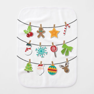 Cute Christmas Xmas Hanging Decoration Baby Burp Cloth