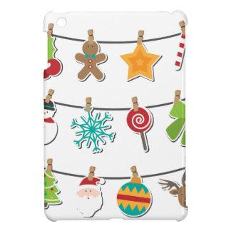 Cute Christmas Xmas Hanging Decoration iPad Mini Cover