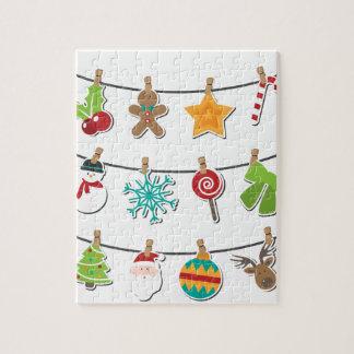Cute Christmas Xmas Hanging Decoration Jigsaw Puzzle