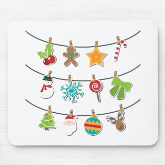 Cute Christmas Xmas Hanging Decoration Mouse Pad
