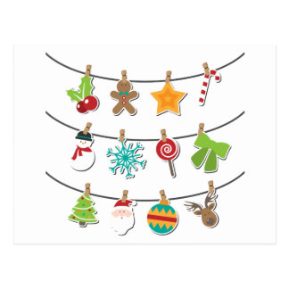 Cute Christmas Xmas Hanging Decoration Postcard