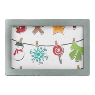 Cute Christmas Xmas Hanging Decoration Rectangular Belt Buckles