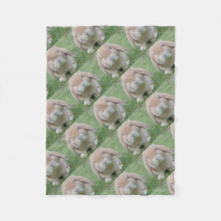 Cute Chubby Bunny Fleece Blanket