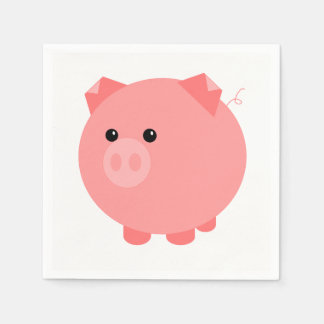 Cute Chubby Pig Party Napkins