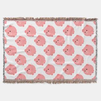 Cute Chubby Pig Throw Blanket