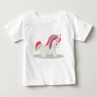 Cute chubby unicorn chibi blushing baby T-Shirt