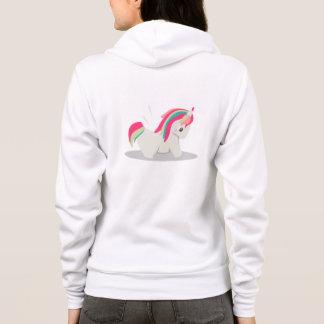 Cute chubby unicorn chibi blushing hoodie