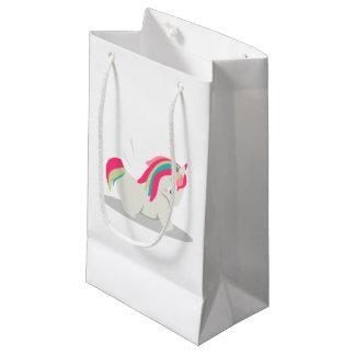 Cute chubby unicorn chibi blushing small gift bag