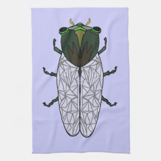 Cute Cicada Kitchen Towel