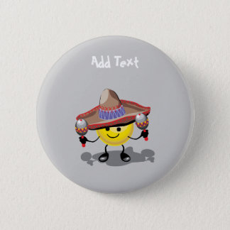 Cute Cinco De Mayo cartoon personalized 2 Inch Round Button