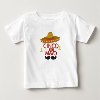 Cute Cinco de Mayo Mexican Holiday Celebration Baby T-Shirt