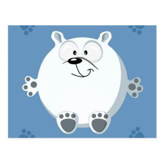Cute circle bear postcard