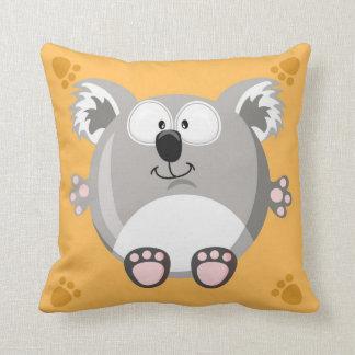 Cute circle koala bear throw pillow