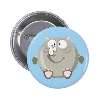 Cute circle rhino 2 inch round button